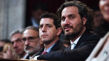 """Santiago Cafiero, jefe de Gabinete, y Wado de Pedro, ministro del Interior: dos integrantes de la """"Mesa Chica"""" del Gobierno"""