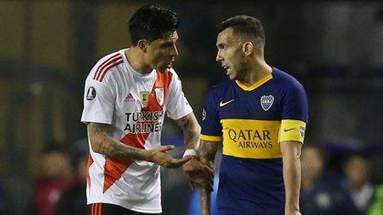 ¿El último superclásico de Carlos Tevez? Su futuro en Boca es una ingógnita (AFP)