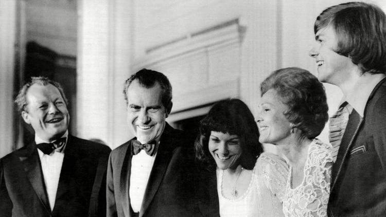 Los Carpenter con el presidente Richard Nixon y la primera dama Pat Nixon (Shutterstock)