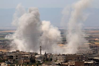 Un bombardeo de mayo en la provincia de Idlib (AFP)