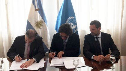 Jean-Paul Laborde, Germán Garavano y Juan Marteau