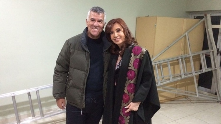 Dady Brieva y Cristina Kirchner