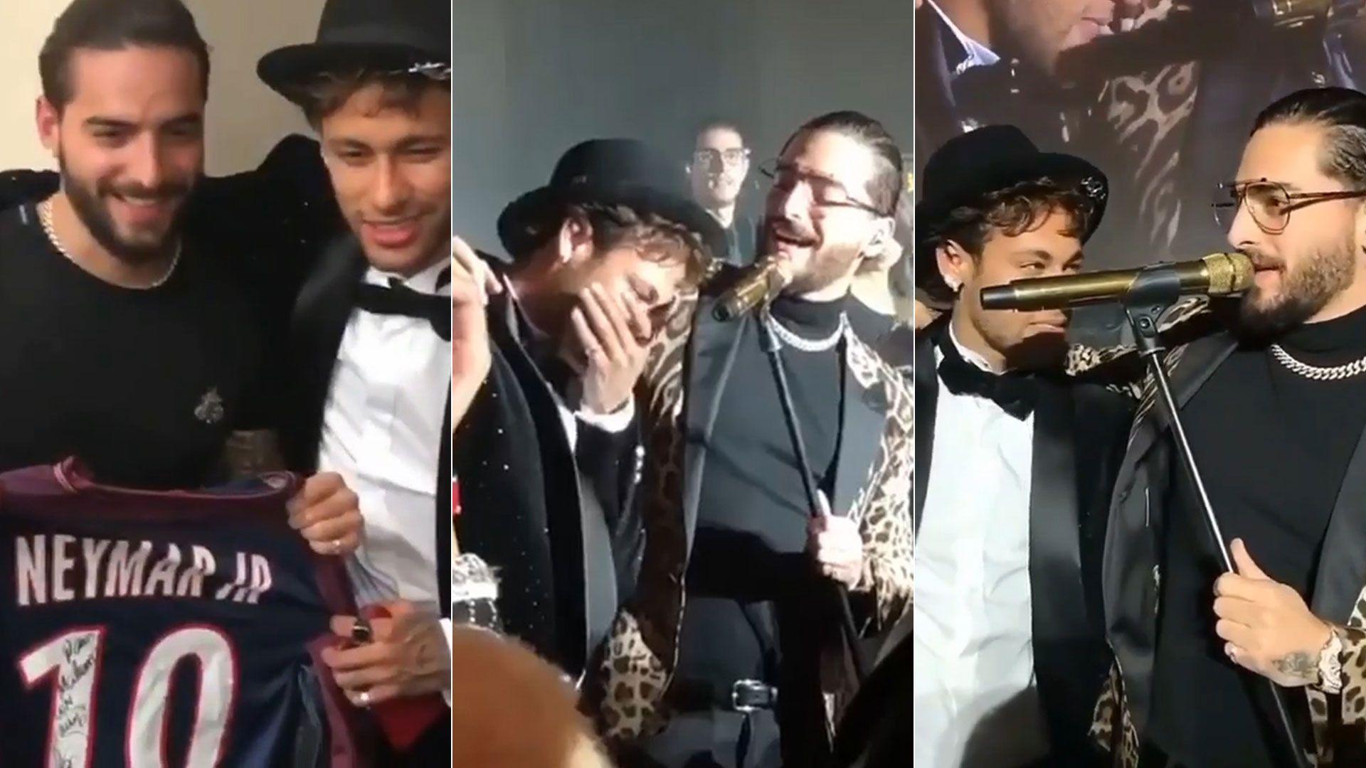 Imágenes de Maluma y Neymar juntos, antes de que se anunciara la relación del astro brasileño con Natalia Barulich, la ex novia del cantante