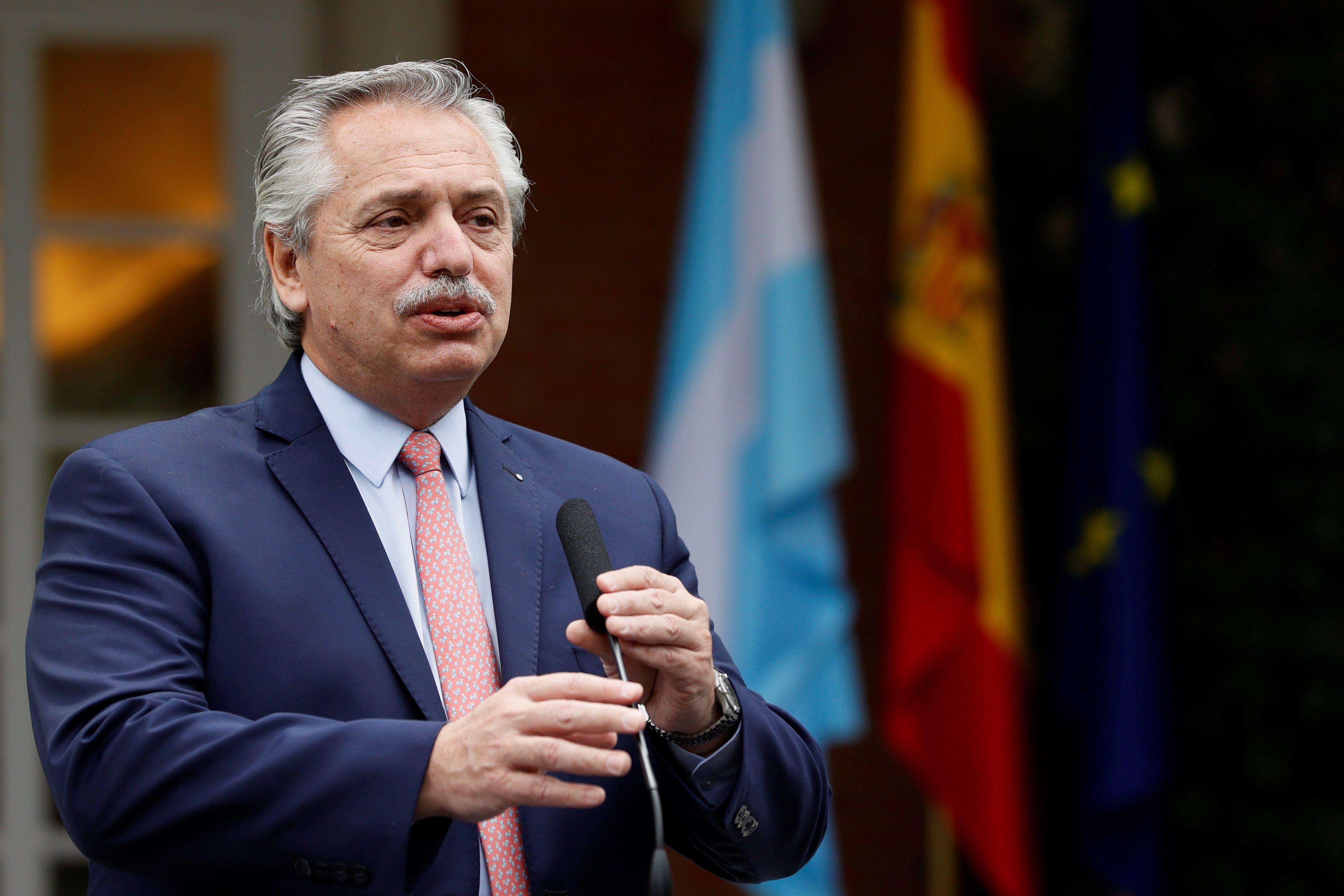 El presidente argentino, Alberto Fernández, enfrenta un nuevo conflicto con el campo. EFE/Ballesteros/Archivo