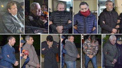 Varios de los empresarios y ex funcionarios detenidos en la causa de los cuadernos de la corrupción