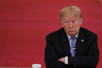 Trump nunca lleva mascarilla en público pero en los últimos días intensificó las prevenciones y los controles de sus círculo intimo para evitar contagios