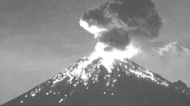 Popocatépetl (Foto: WebcamsdeMexico)