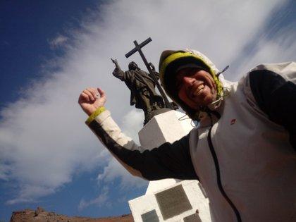 Selfie con el Cristo Redentor de los Andes
