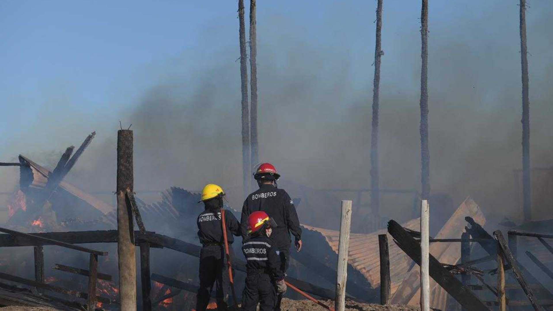 Incendio parador Pinamar