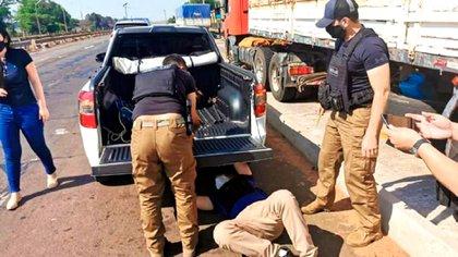 'Alemaõ' fue detenido en el departamento de Caaguazú (este) con tres paquetes de cocaína ocultos en la rueda del vehículo en el que viajaba