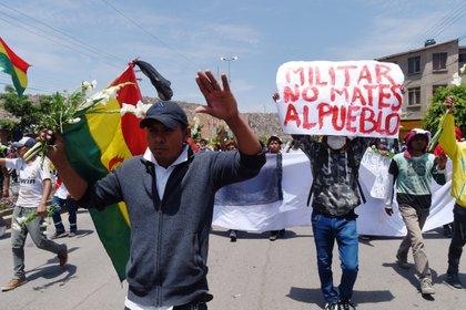 Seguidores de Evo Morales en Cochabamba, Bolivia, el 16 de noviembre (REUTERS/Danilo Balderrama)