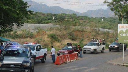 Filtros de ingreso en Tepoztlán para evitar ingreso de turistas (Foto: Facebook/H. Ayuntamiento de Tepoztlán 2019-2021)
