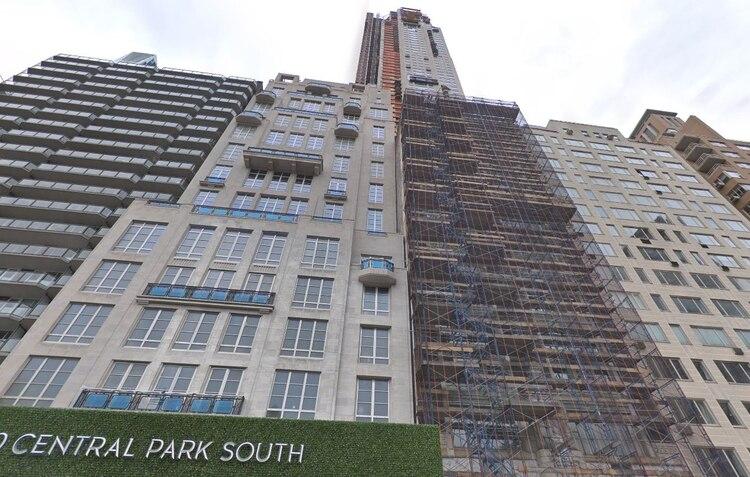 Una vista de la construcción del 220 Central Park South en noviembre de 2017