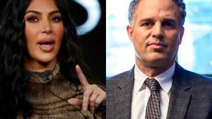 Kim Kardashian, Mark Ruffalo.