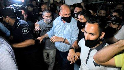 Tensión con el gobernador Omar Perotti en una marcha por inseguridad