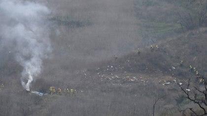 Así quedó el lugar en el que se estrelló el helicóptero de Kobe Bryant (Reuters)