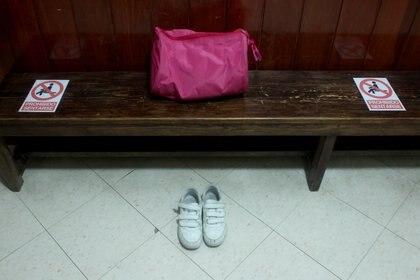 La academia Ballet Studio Coppelius, fue adaptada para garantizar un regreso seguro con clases híbridas, el aforo máximo es de dos alumnas por clase. Ciudad de México, abril 20, 2021. Foto: Karina Hernández/Infobae