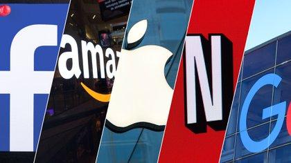 Las FAANG: Facebook, Amazon, Apple, Netflix y Google.