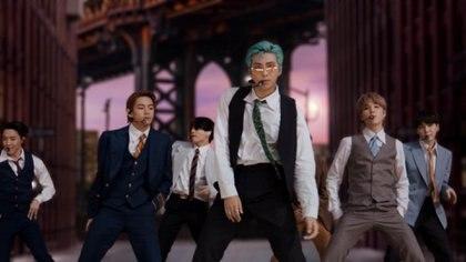 BTS cantaron su tema Dynamite (Foto MTV)