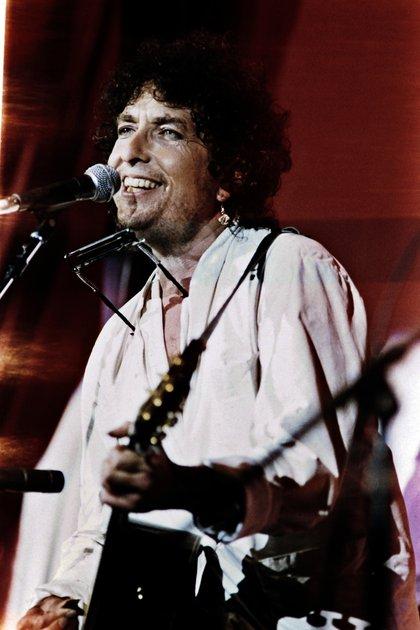 Bob Dylan, otra de las grandes estrellas de la velada (Foto: AFP / Micelotta FRANK)