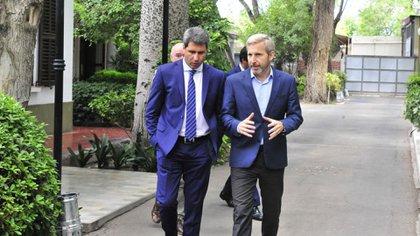 Rogelio Frigerio con el gobernador de San Juan, Sergio Uñac