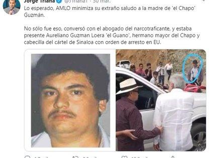 Una de las fotos desmentidas por la Presidencia de México (Foto: Twitter@JTrianaT)