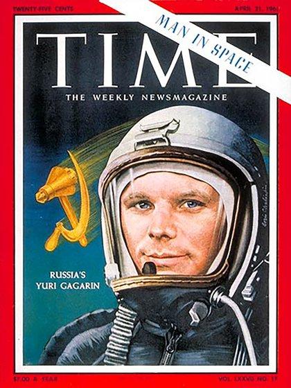 La revista Time le dedicó su tapa a Gagarin. Signo del impacto causado por este logro soviético