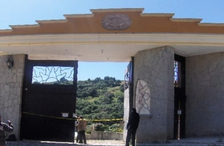 """La fachada del rancho """"Los Tres García"""" (Foto: Presidencia de México)"""