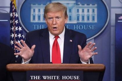 Donald Trump en su conferencia de prensa del viernes (REUTERS/Leah Millis)