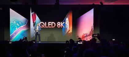 La compañía dio a conocer su nueva línea QLED con resolución 8K.