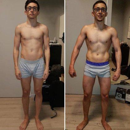 A principios de septiembre, Rodrigo Noya estaba como se lo ve en la foto de la izquierda; la llegada de la primavera lo encontró así, como puede observarse en la imagen de la derecha