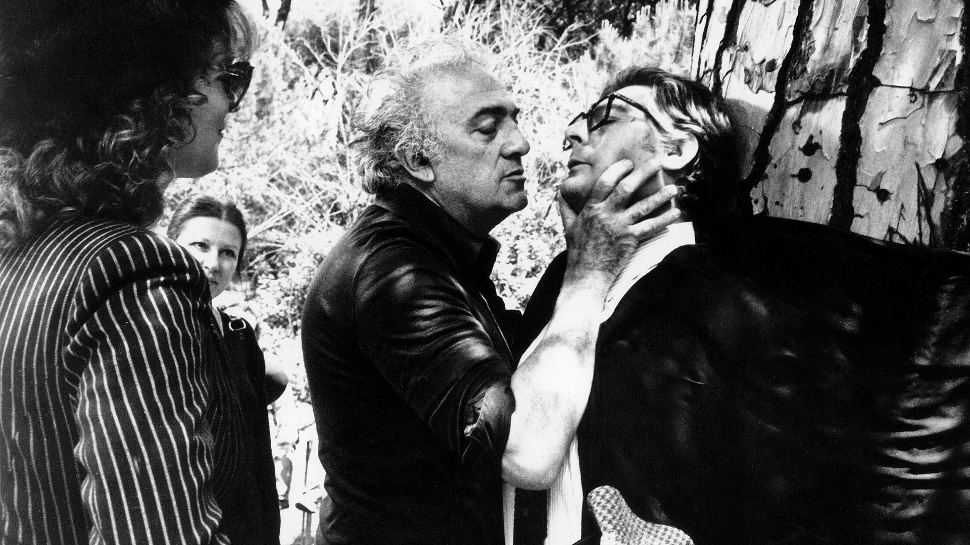 """Durante la grabación de """"Ciudad de mujeres"""", toma del cuello a Marcelo Mastroianni (Opera/Gaumont/Kobal/Shutterstock)"""