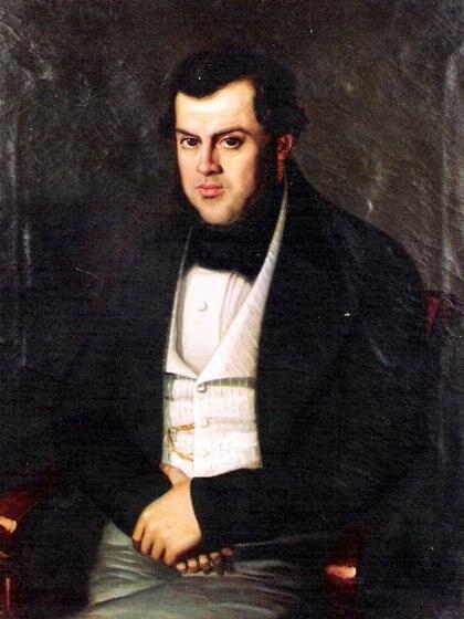 Sarmiento en 1845, retratado por Benjamín Franklin Rawson