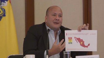 """""""Enrique Alfaro, gobernador del estado, se comprometió a impulsar o fondear los tratamientos para enfermedades catastróficas, pero eso no está pasando"""", aseguró Izaguirre. (Foto: Captura de pantalla)"""