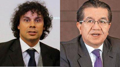 Periodista Hassam Nassar y el Ministro de salud Fernando Ruiz.