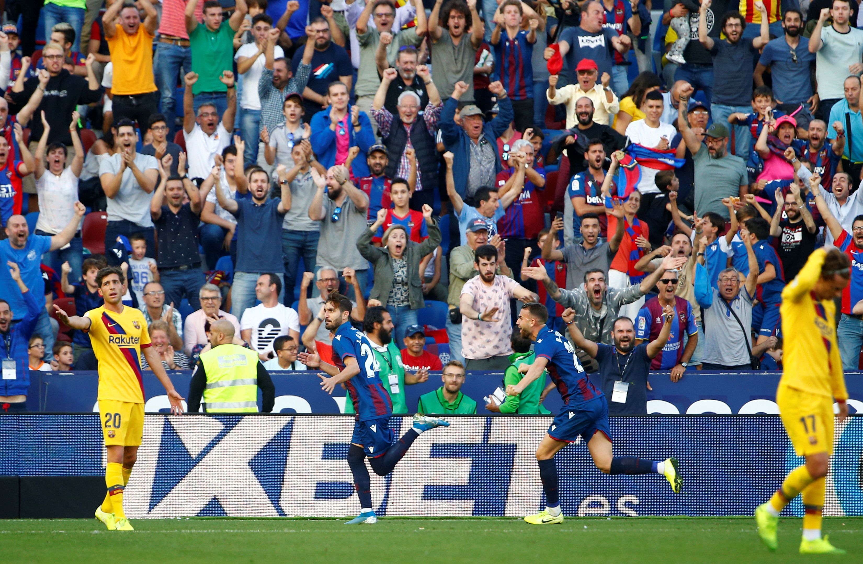 Después de cinco partidos consecutivos con victorias, el Barcelona volvió a perder por la liga española (REUTERS/Javier Barbancho)
