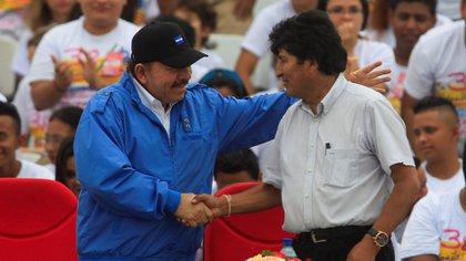 Daniel Ortega y Evo Morales (Reuters)