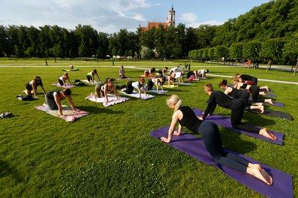 Clase de Yoga en Vilnius, Lituania