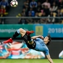 Football Soccer - Uruguay v Czech Republic - China Cup Semi-Finals - Guangxi Sports Center, Nanning, China - March 23, 2018. Edinson Cavani of Uruguay scores a goal. REUTERS/Stringer ATTENTION EDITORS - THIS IMAGE WAS PROVIDED BY A THIRD PARTY. CHINA OUT.
