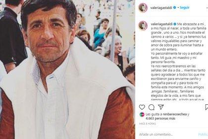 El mensaje de Valeria Gastaldi