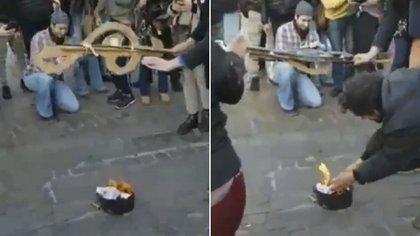 Captura de pantalla del video que se viralizó.