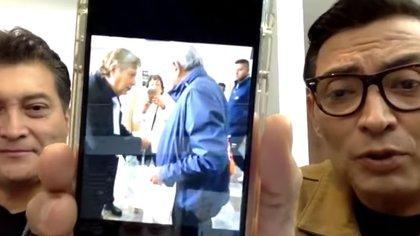 El periodista Jorge Carbajal mostró el encuentro de Joaquín Muñoz y López Obrador (Foto: YouTube Productora69)