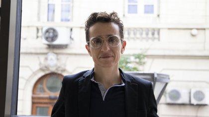 Masha Gessen durante la entrevista con Infobae (Lihueel Althabe)