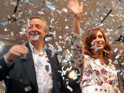 Néstor y Cristina Kirchner (foto NA)