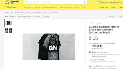 Las insignias también se comercializan a través de internet (Foto: Mercado Libre)