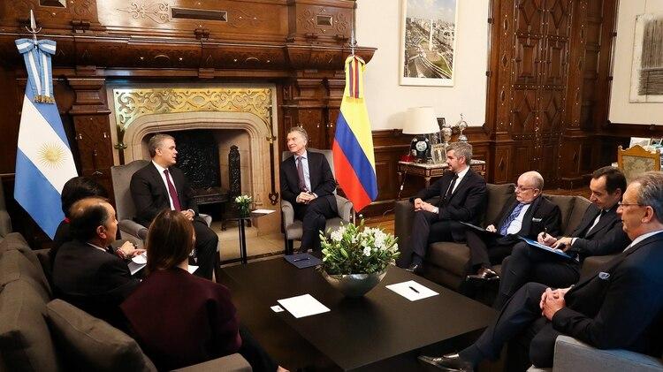 El presidente de Colombia elogió a su par argentino (foto Télam)