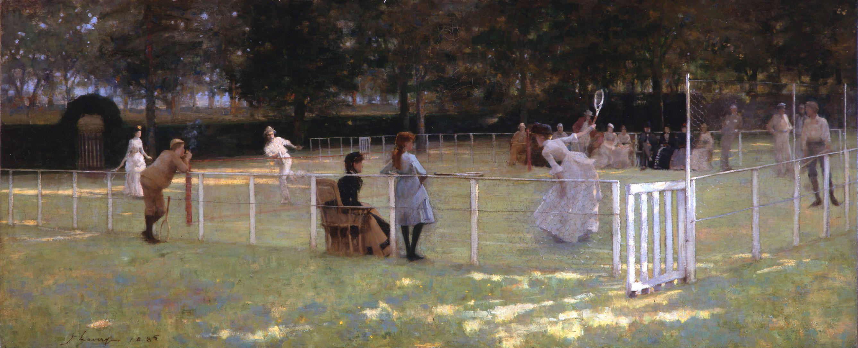 El partido de tenis, de John Lavery (1885)