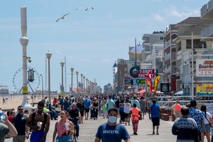 La playa en Ocean City, en Maryland, también estuvo repleta en mayo