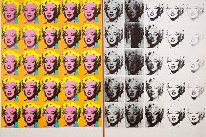 """""""Díptico Marilyn"""", (1962), de Andy Warhol. Serigrafía sobre lienzo (301,56 × 144,8 cm) en el Tate Modern"""