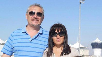 Pablo Humberto González, ahijado de Ginés, y su mujer